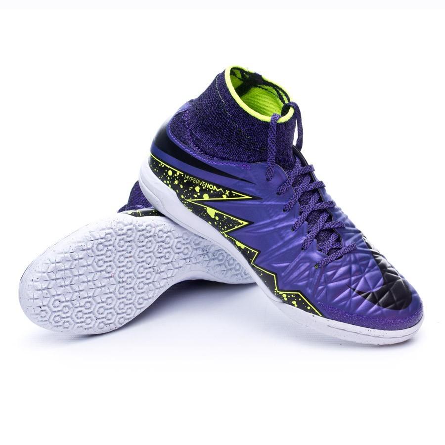 7f3f12309a336 chaussure de futsal nike jr hypervenomx proximo ic hyper grape black volt  boutique de football fútbol