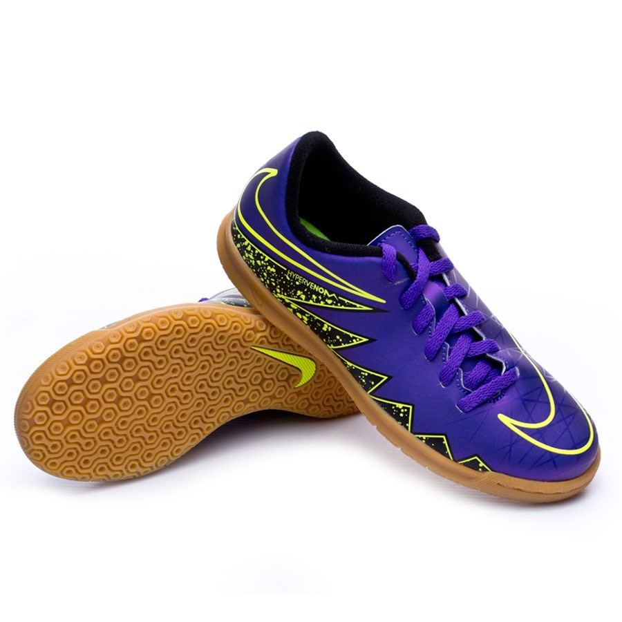 d05d8785c089 Futsal Boot Nike Jr Hypervenom Phade II IC Hyper grape-Black-Volt ...