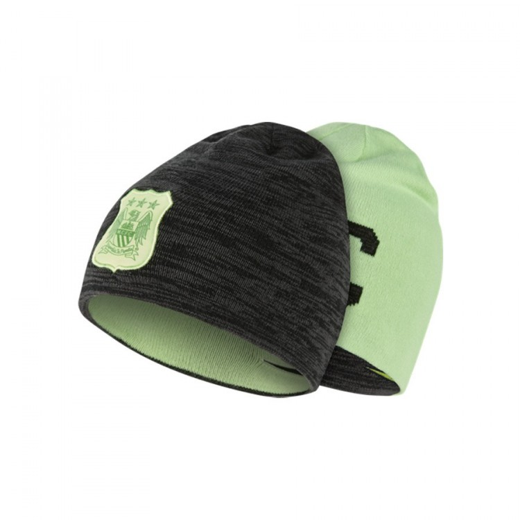 2e1e1042af9a63 Beanie Nike MCFC Anthracite-Black-Ghost green - Football store ...
