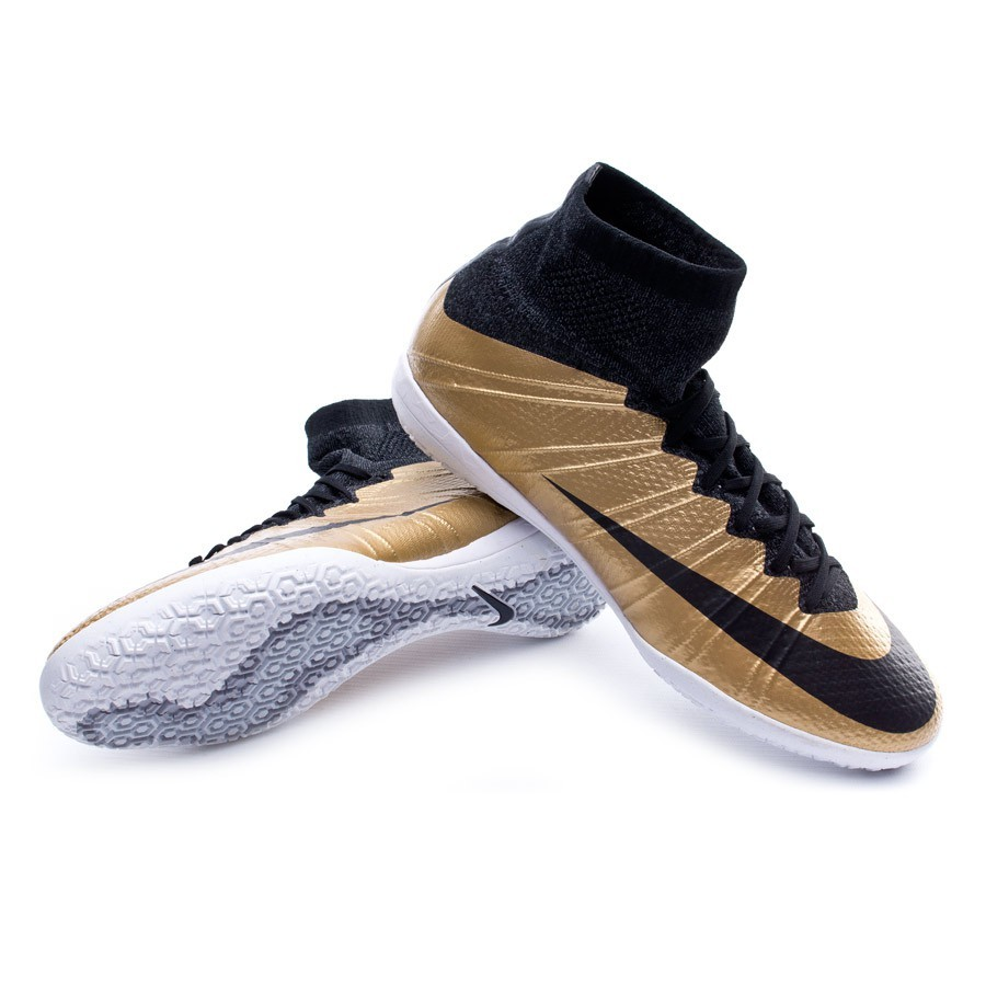 reputable site 7b2b6 4951b Tenis Nike MercurialX Proximo IC Metallic gold-Black-Challenge red - Tienda  de fútbol Fútbol Emotion