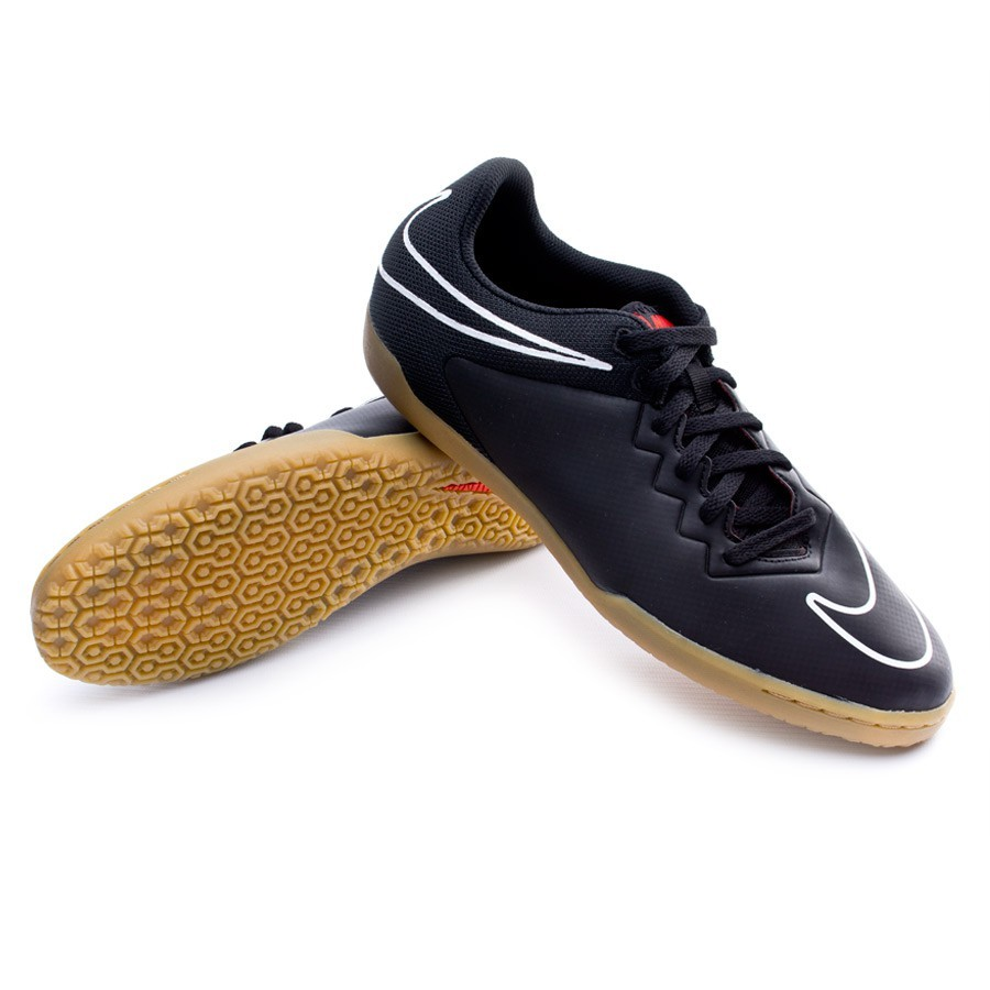 2b3ba27938 Sapatilha de Futsal Nike HypervenomX Pro IC Black-White-Challenge red -  Loja de futebol Fútbol Emotion