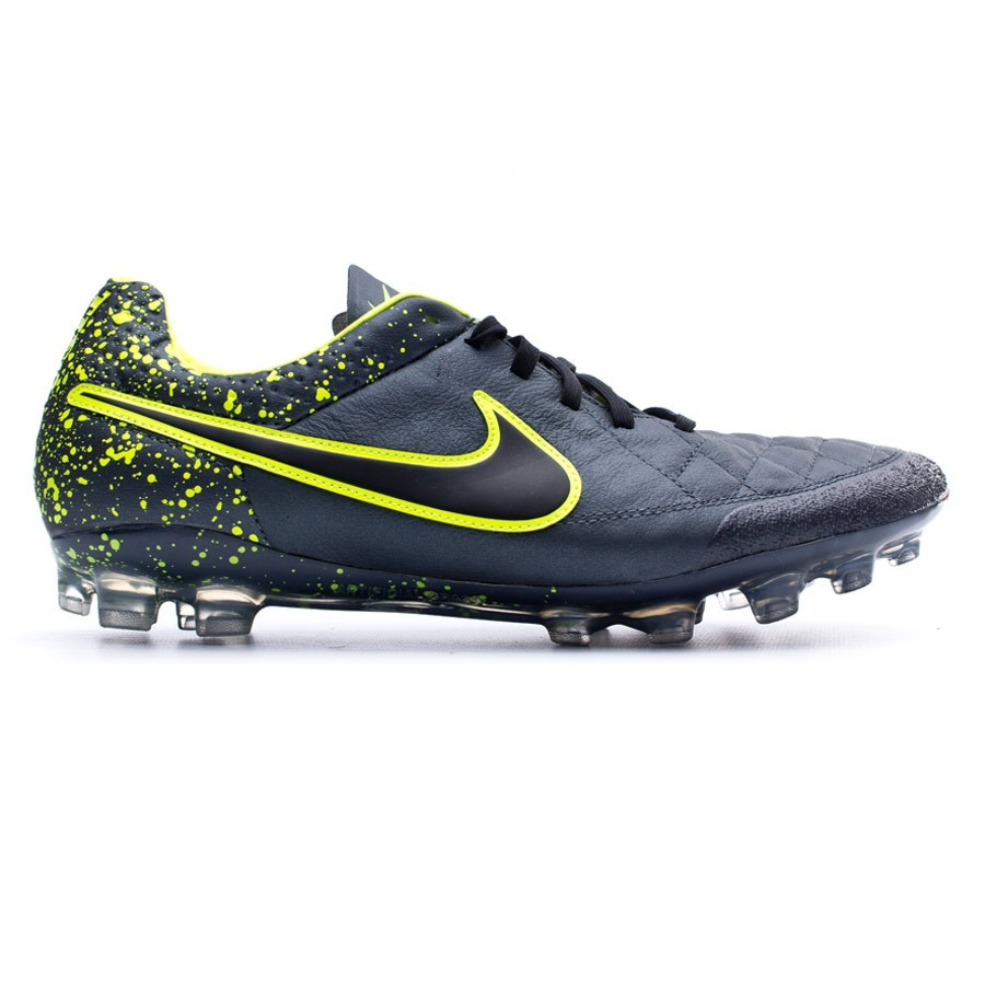 b5b24a5d5 Football Boots Nike Tiempo Legend V AG-R Anthracite-Black-Volt - Tienda de  fútbol Fútbol Emotion