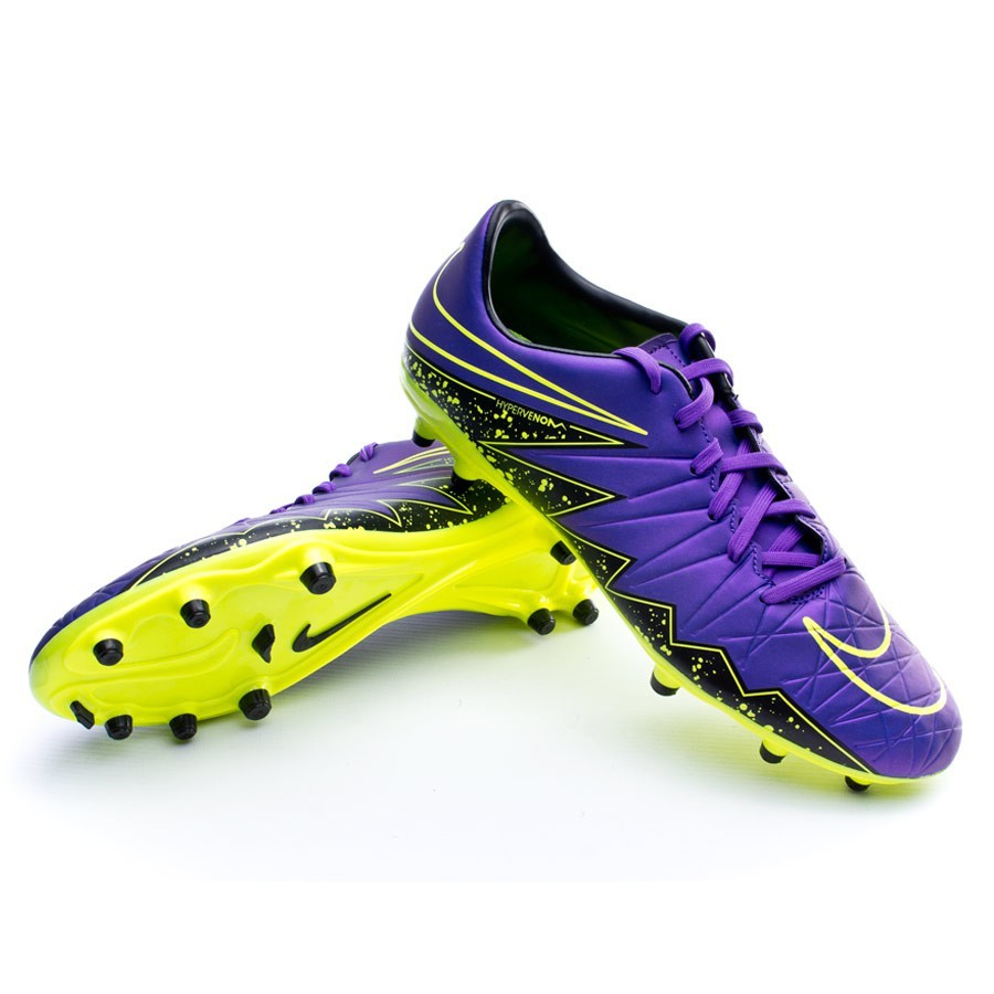 d6ede3149 Boot Nike Hypervenom Phelon II FG Hyper grape-Black-Volt - Football ...
