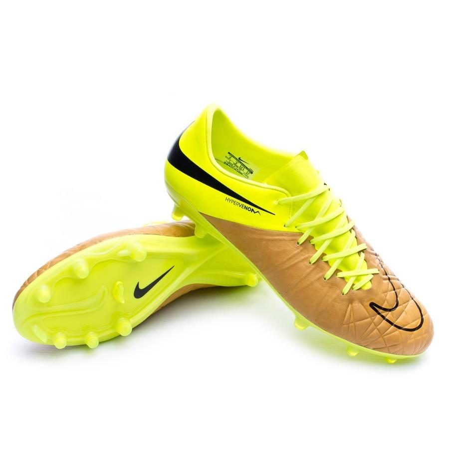 889ddeb16 Nike HyperVenom Phinish Tech Craft Piel FG Football Boots. Canvas-Black-Volt  ...