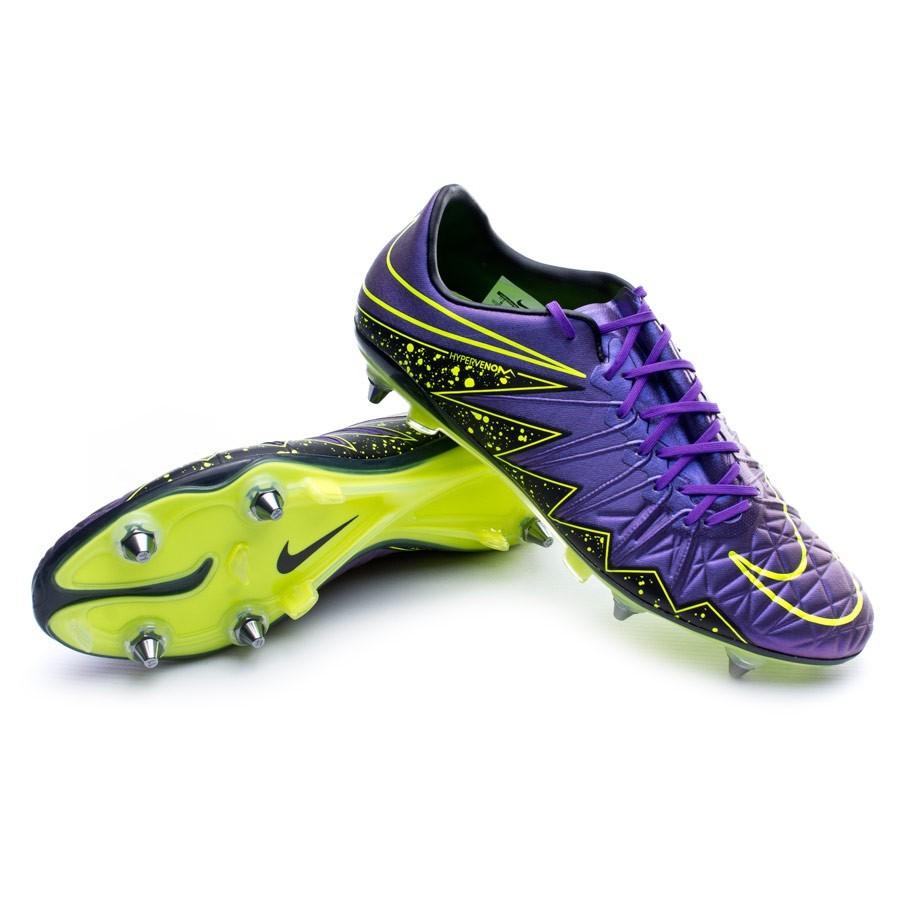d4c478c59 Nike HyperVenom Phinish SG-Pro Football Boots. Hyper grape-Black-Volt ...