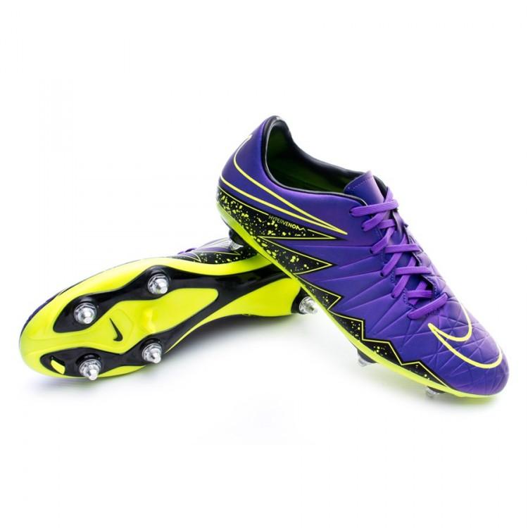 4c8efb713fe Boot Nike HyperVenom Phelon II SG Hyper grape-Black-Volt - Football ...