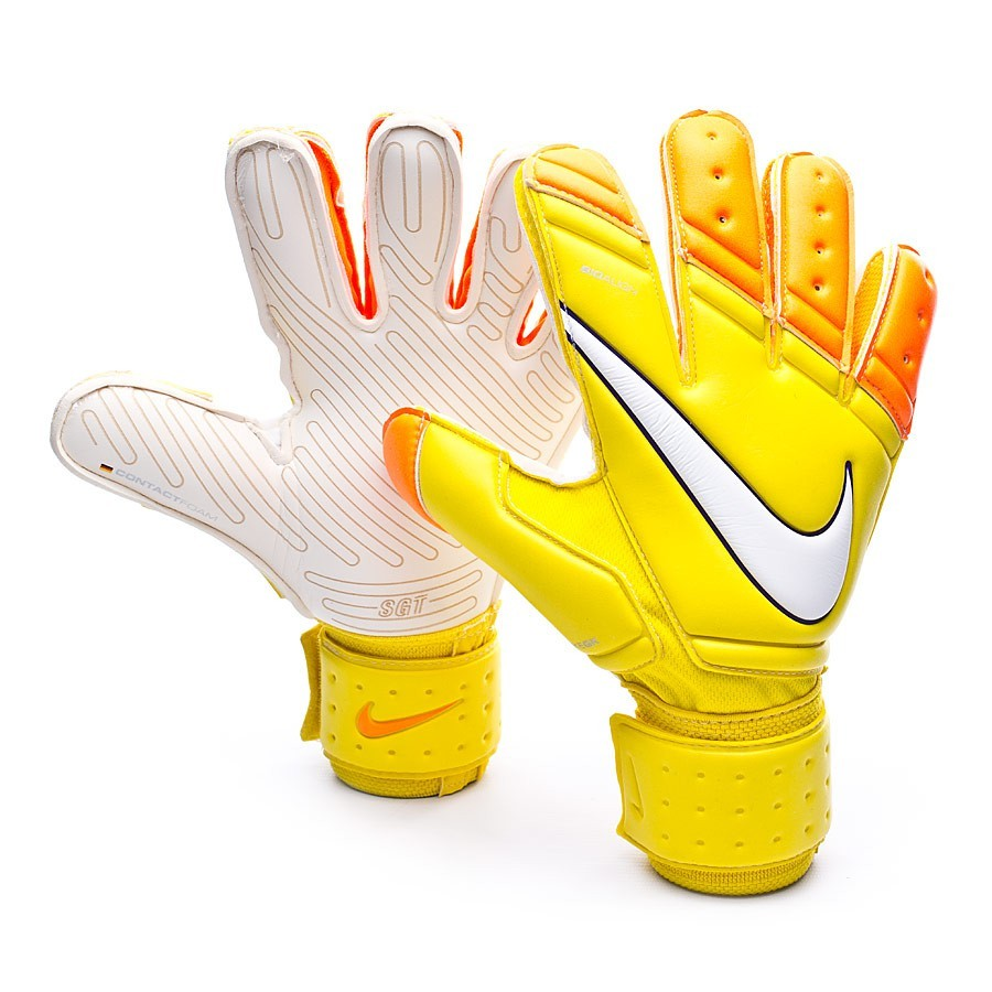 Glove Nike Premier SGT Yellow-Total orange-White - Football store ... 5fc5d142e54d