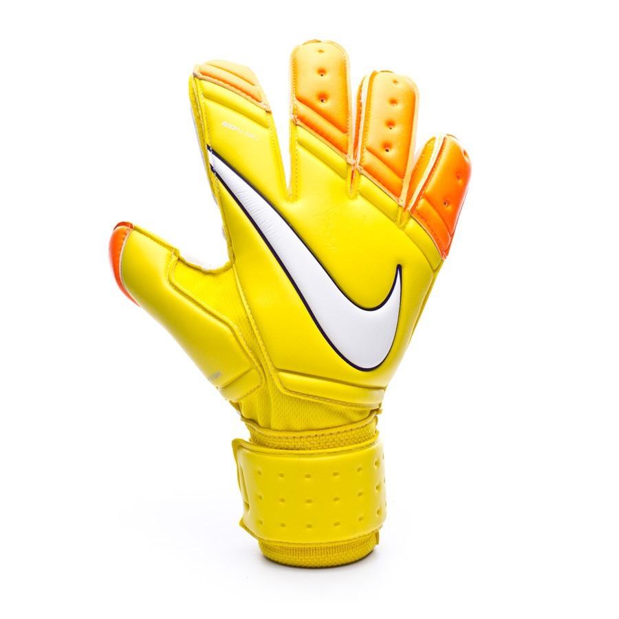 Nike Football Gloves Yellow: Glove Nike Premier SGT Yellow-Total Orange-White
