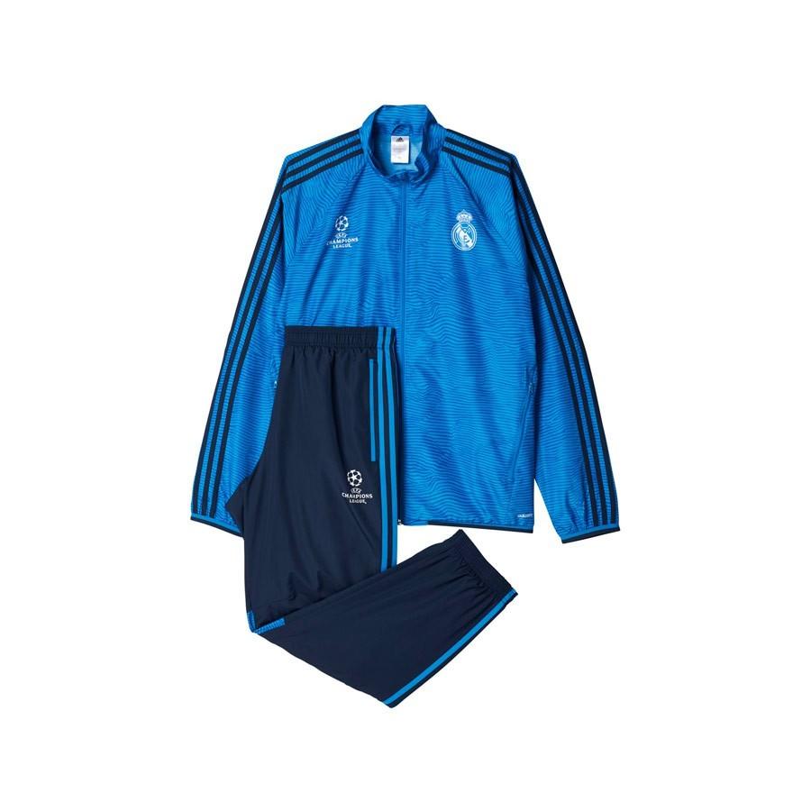 aaea6be3cfab7 Tracksuit adidas Real Madrid 3ª 2016 Bright blue-Night indigo-White ...