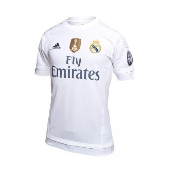 Camiseta  adidas Jr Real Madrid 2016 CL White-Clear grey