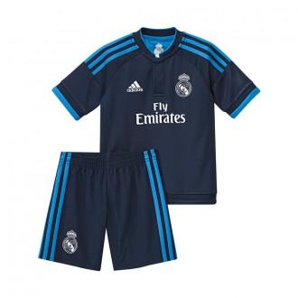 Conjunto  adidas Jr Real Madrid 3ª 2016 Night indigo-Bright blue