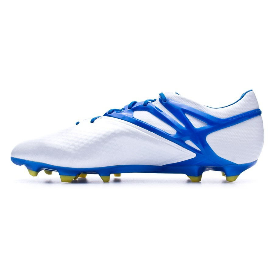 02f1786429aef Bota de fútbol adidas Messi 15.1 FG AG Plata-Azul - Tienda de fútbol Fútbol  Emotion