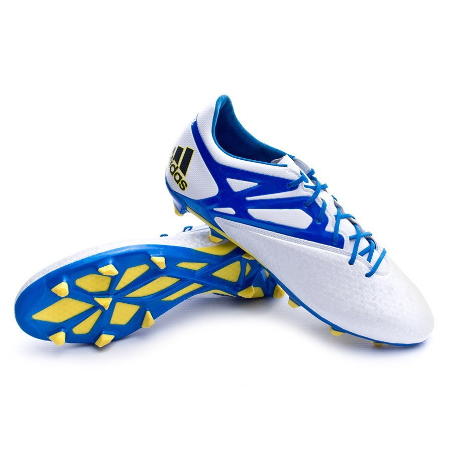 Chuteira adidas Messi 15.2 FG AG Prata-Azul - Loja de futebol Fútbol Emotion 21122aaa5fe95
