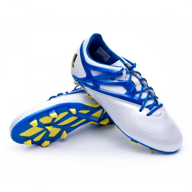 3529dc0ce Football Boots adidas Kids Messi 15.1 FG AG Silver-Blue - Football ...