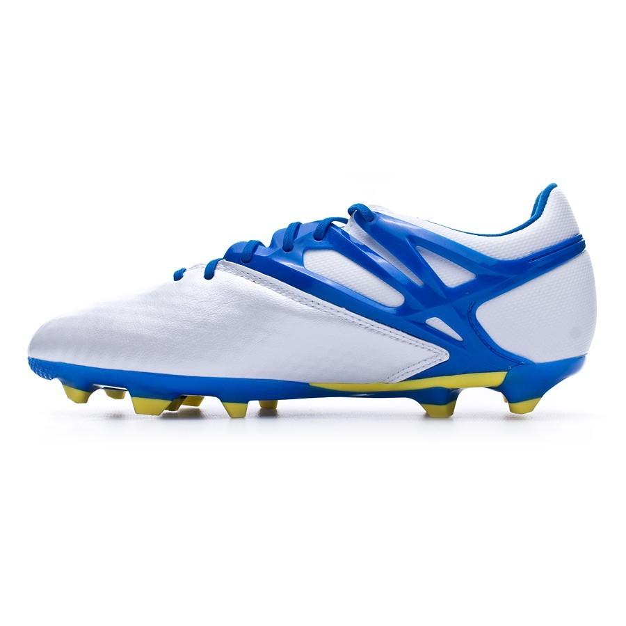 d07ec3b0efd4 Football Boots adidas Kids Messi 15.1 FG AG Silver-Blue - Tienda de fútbol  Fútbol Emotion