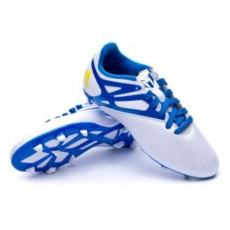 Bota  adidas Messi 15.3 FG/AG Niño Plata-Azul