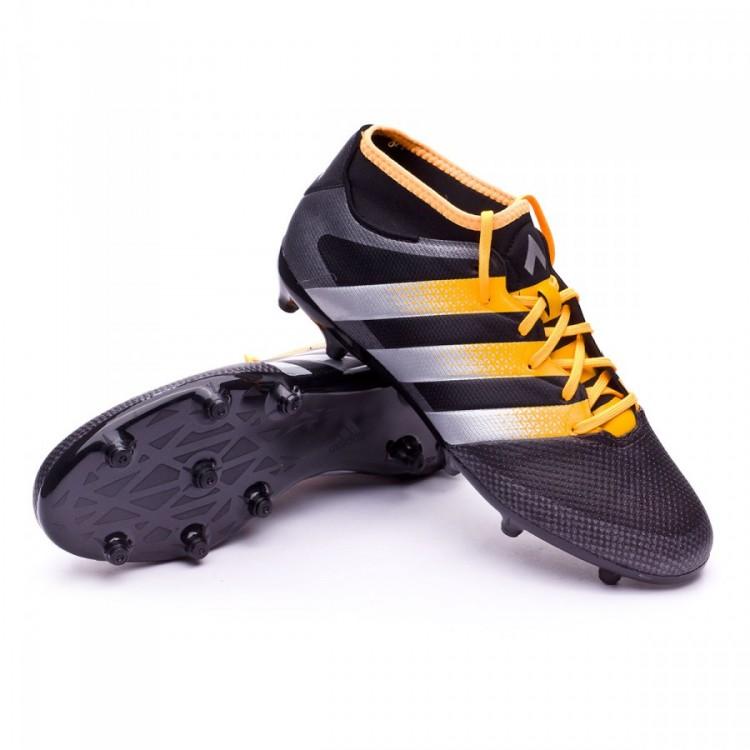 444ec0f2e Football Boots adidas Ace 16.3 Primemesh FG AG Core black-Silver ...