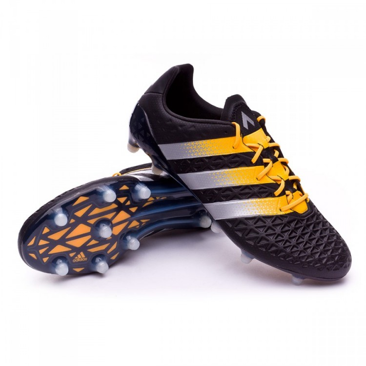 Boot adidas Ace 16.1 FG AG Core black-Silver metallic-Solar gold ... 125db5776