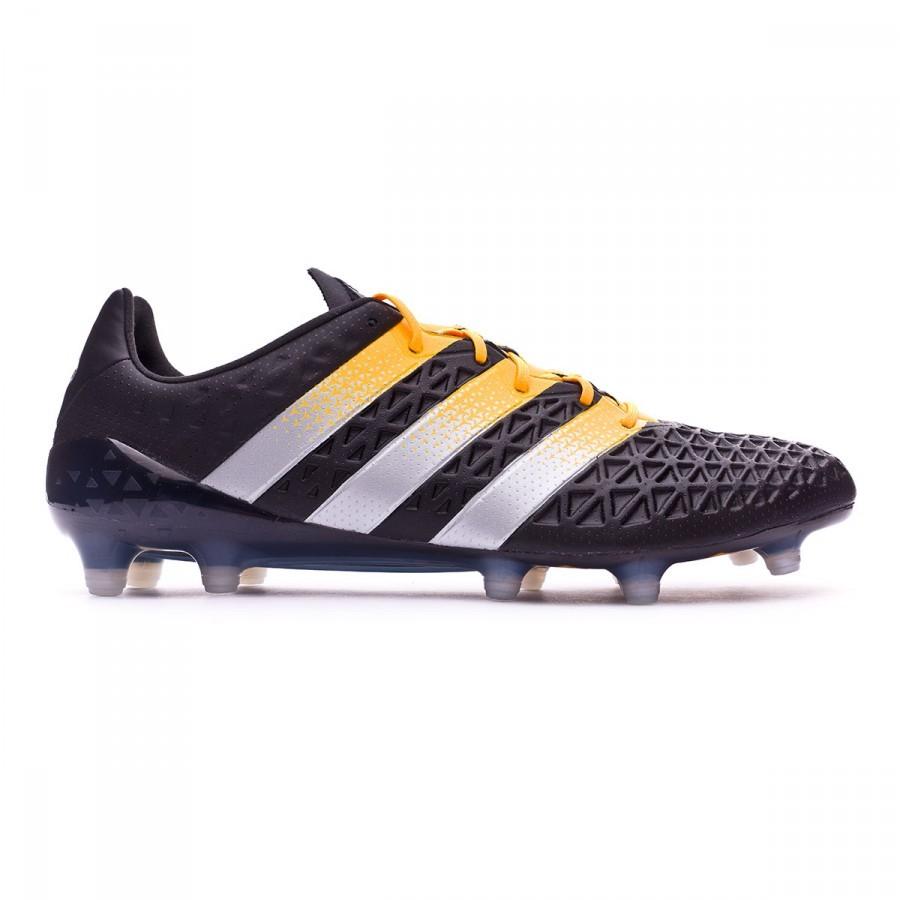 c8a8e09e3bc4 Football Boots adidas Ace 16.1 FG AG Core black-Silver metallic-Solar gold  - Football store Fútbol Emotion