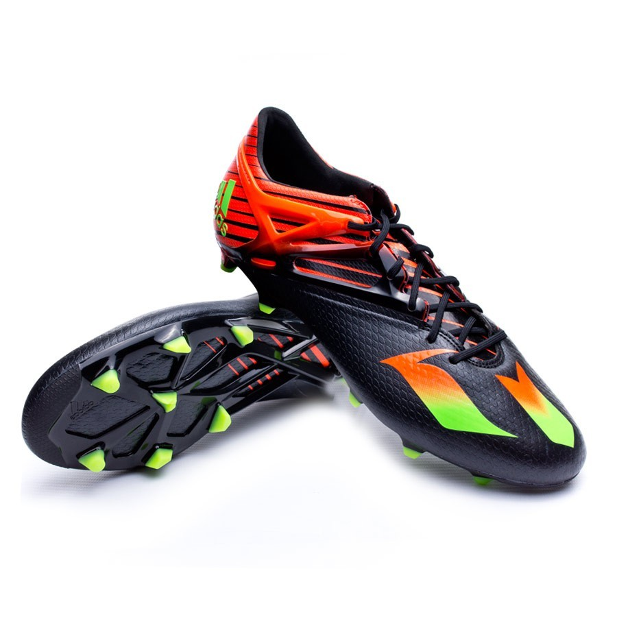 0b2691c80 Football Boots adidas Messi 15.1 FG AG Core black-Solar green-Solar ...