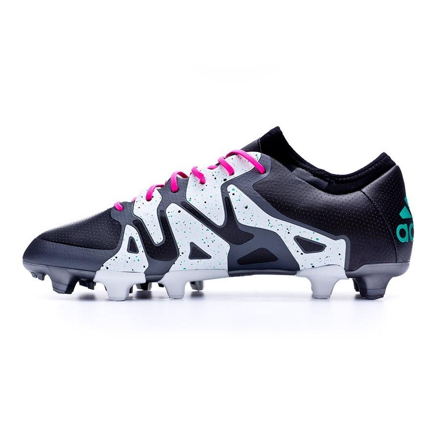 432ae3d82b5 Football Boots adidas X 15.1 FG AG Core black-Shock mint-White - Football  store Fútbol Emotion