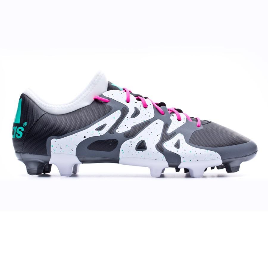 e454bb410c9a Football Boots adidas X 15.2 FG AG Core black-Shock mint-White - Football  store Fútbol Emotion