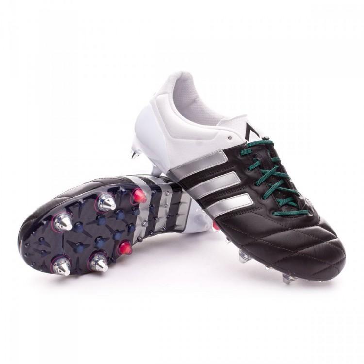 separation shoes 1e99f 5aec9 Bota Ace 15.1 SG Piel Core black-Matte silver-White