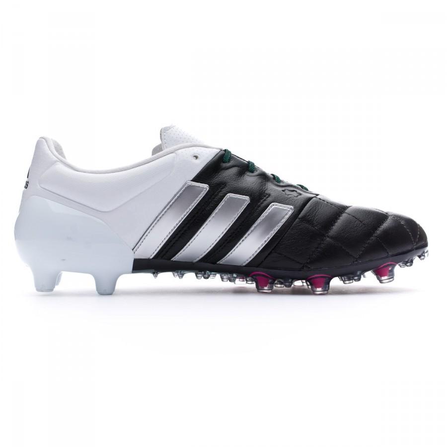 outlet store 3d2fb 38878 Scarpe adidas Ace 15.1 FGAG Pelle Core black-Matte silver-White - Negozio  di calcio Fútbol Emotion