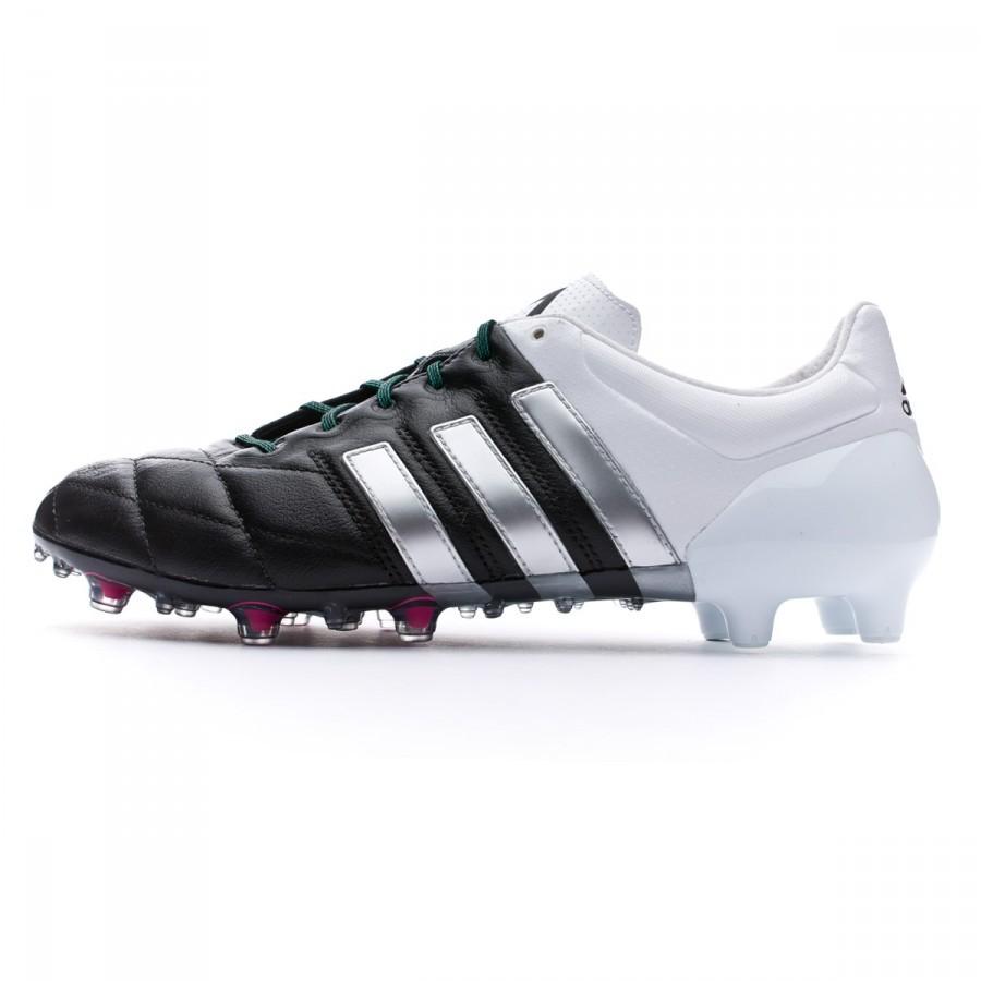 finest selection 84dd1 da398 Boot adidas Ace 15.1 FGAG Piel Core black-Matte silver-White - Football  store Fútbol Emotion
