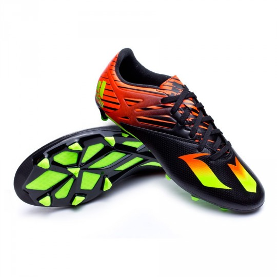 Chaussure  adidas Messi 15.3 FG/AG Core black-Solar green-Solar red