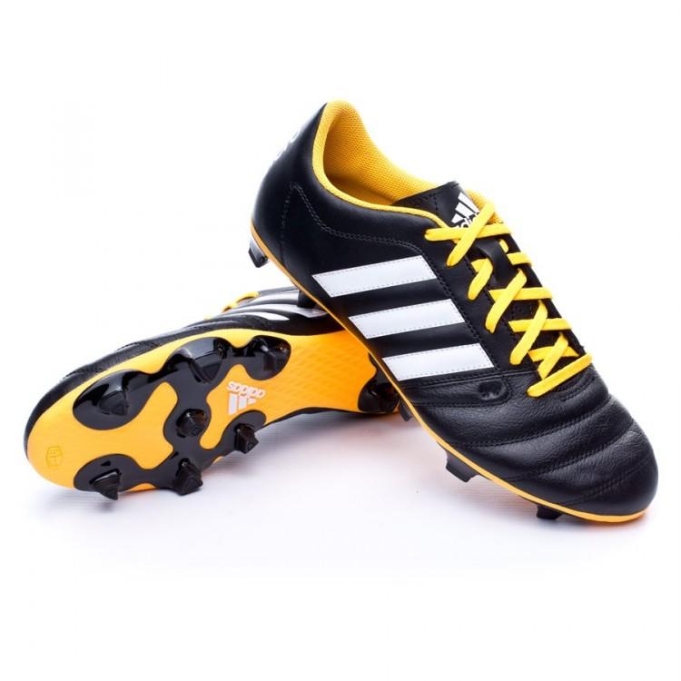 8c4c06fc211fc Chuteira adidas Gloro 16.2 FG Black-Solar yellow - Loja de futebol ...