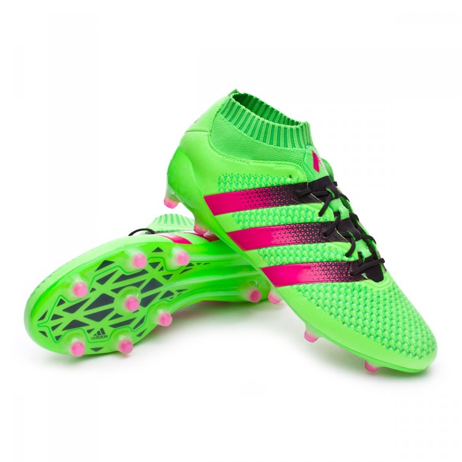 wholesale dealer 097b3 8b87b Boot adidas Ace 16 + Primeknit FG AG Solar green-Shock pink-Core black -  Soloporteros es ahora Fútbol Emotion