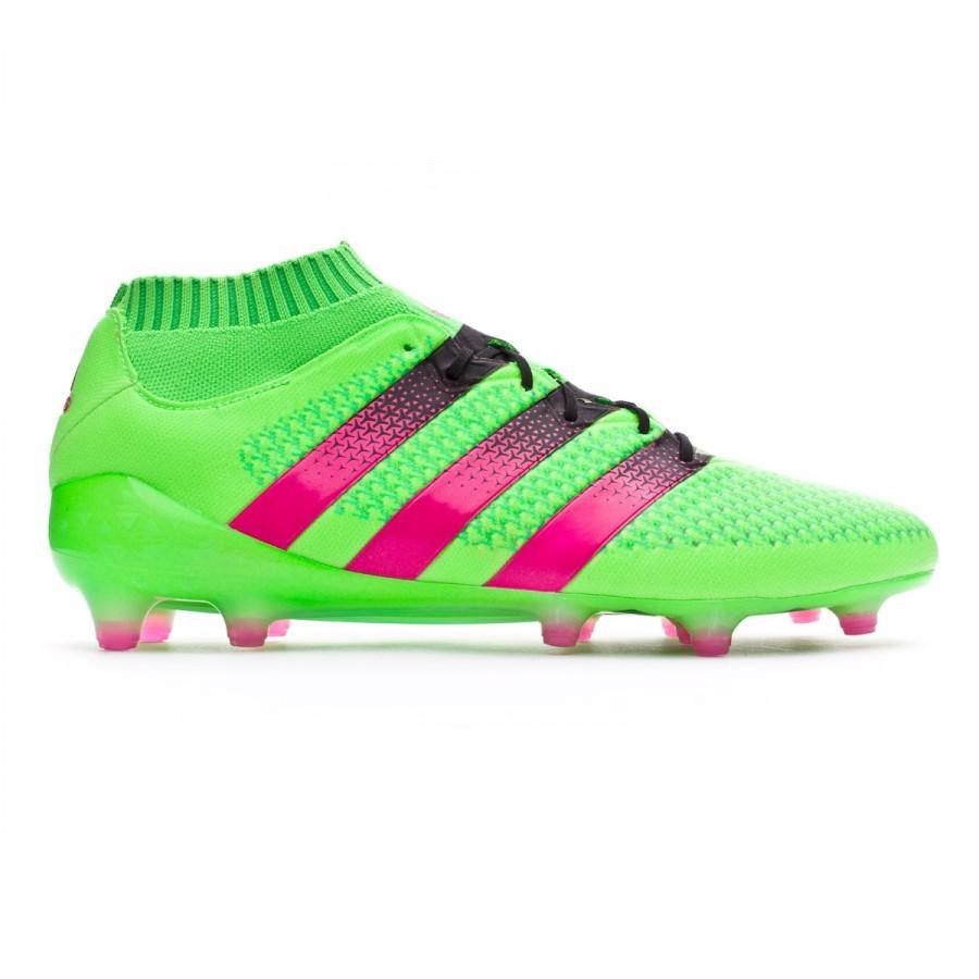 69aa03148664 Football Boots adidas Ace 16 + Primeknit FG AG Solar green-Shock pink-Core  black - Tienda de fútbol Fútbol Emotion