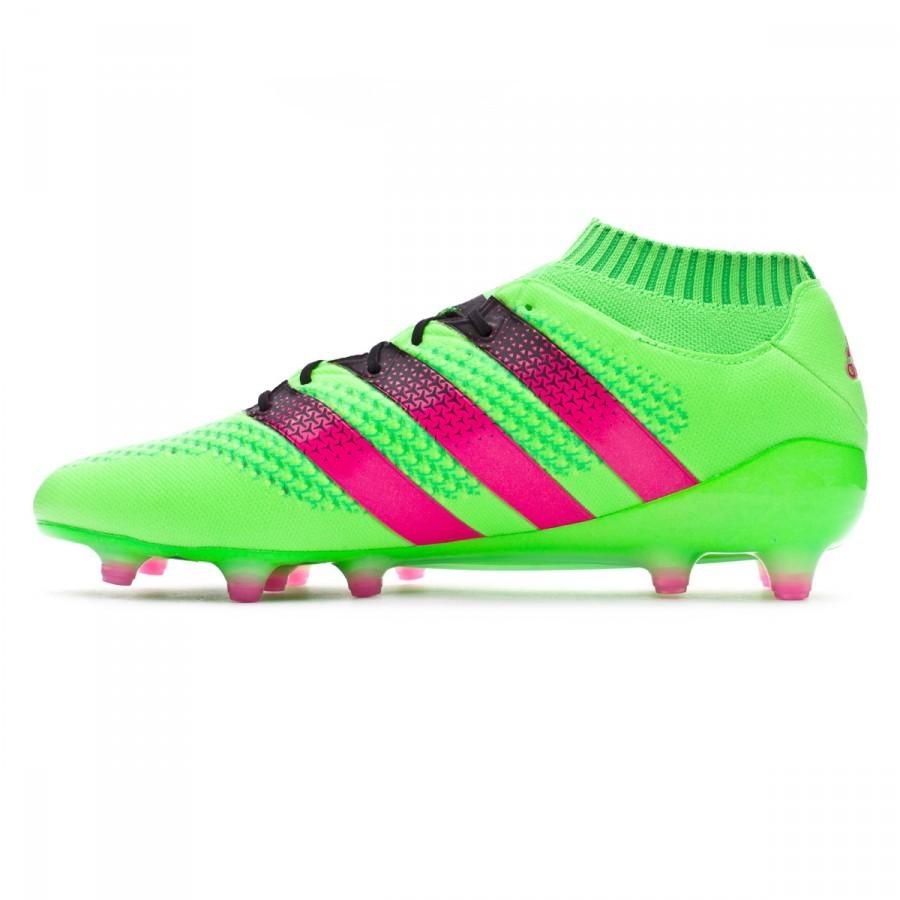 017bc08e3 Football Boots adidas Ace 16 + Primeknit FG/AG Solar green-Shock pink-Core  black - Tienda de fútbol Fútbol Emotion