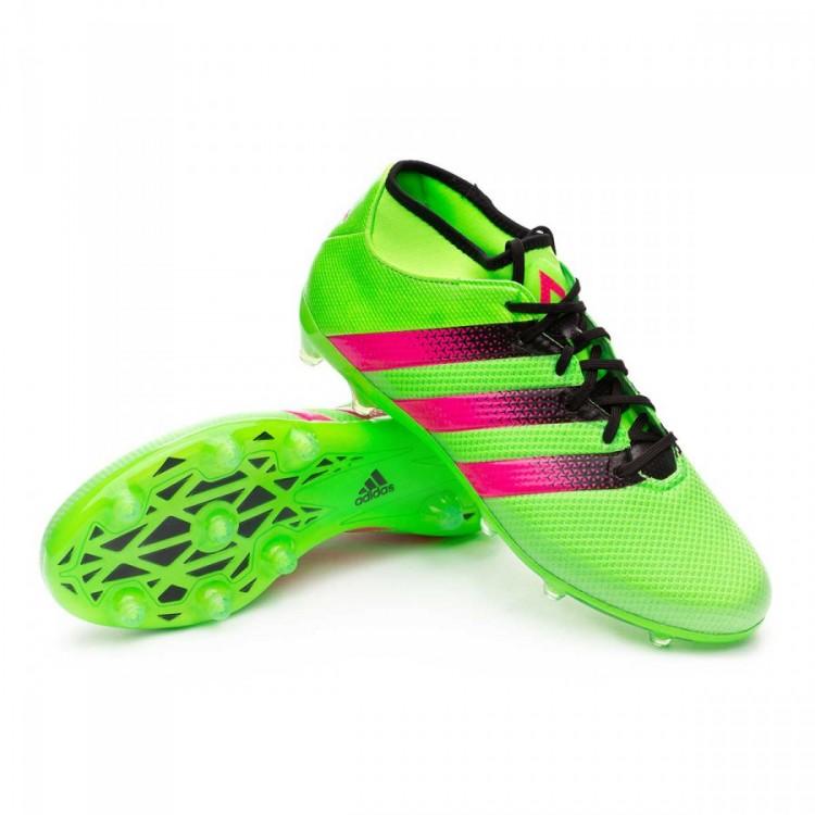 b8edafc3e9 Chuteira adidas Ace 16.2 Primemesh FG AG Solar green-Shock pink-Core ...
