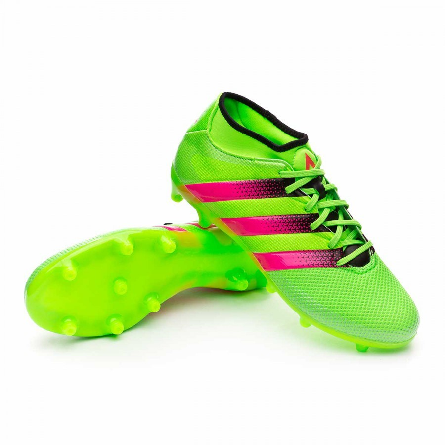 promo code e6bbb c4552 Boot adidas Ace 16.3 Primemesh FGAG Solar green-Shock pink-Core black -  Football store Fútbol Emotion