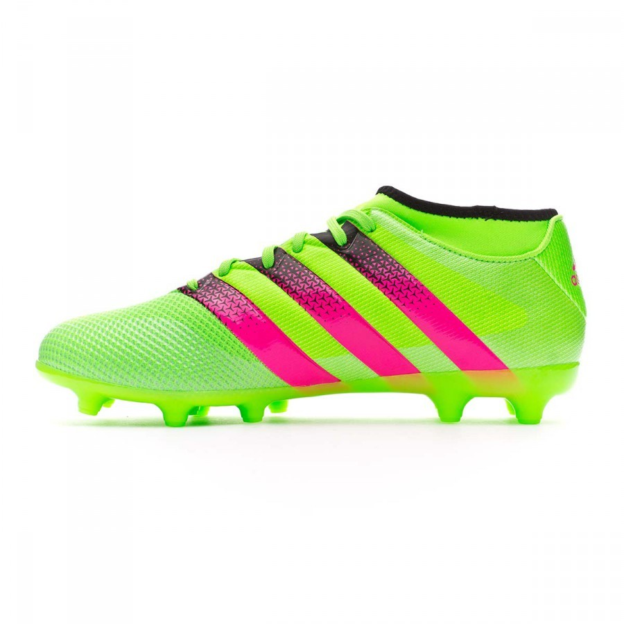 promo code 90659 e6c29 Boot adidas Ace 16.3 Primemesh FGAG Solar green-Shock pink-Core black -  Football store Fútbol Emotion