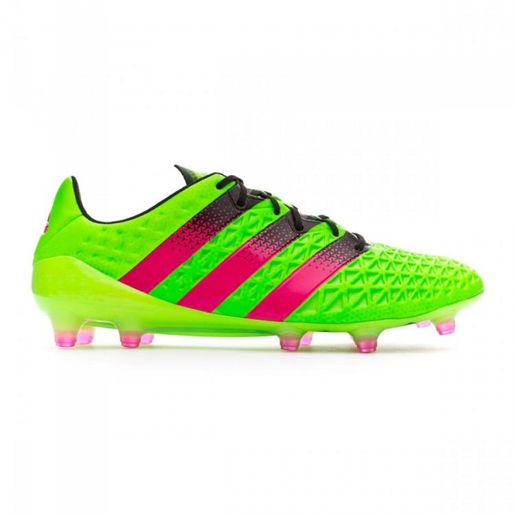 Bota de fútbol adidas Ace 16.1 FG AG Solar green-Shock pink-Core ... c63eec644b651