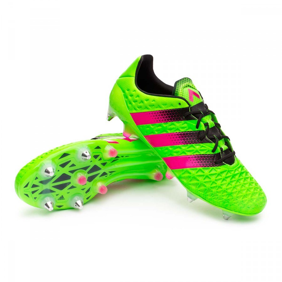 d46aab07f3b87 Boot adidas Ace 16.1 SG Solar green-Shock pink-Core black - Leaked soccer