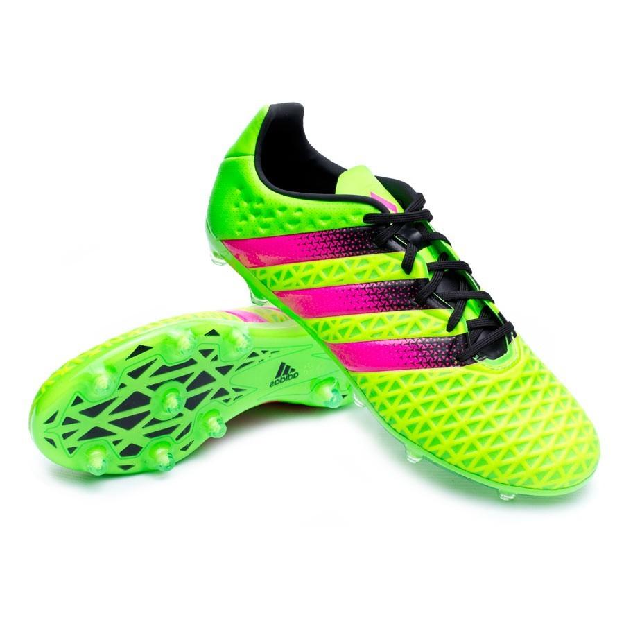 meet 24619 81f89 Scarpe adidas Ace 16.2 FG AG Solar green-Shock pink-Core black - Negozio di  calcio Fútbol Emotion