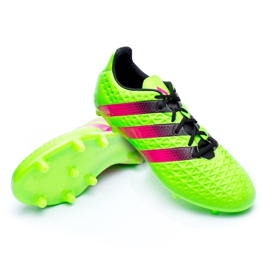 16 de fútbol Zapatos Fútbol Soloporteros Shock es Core ahora FGAG green Solar black Ace adidas Emotion 3 pink CIgw5qwd