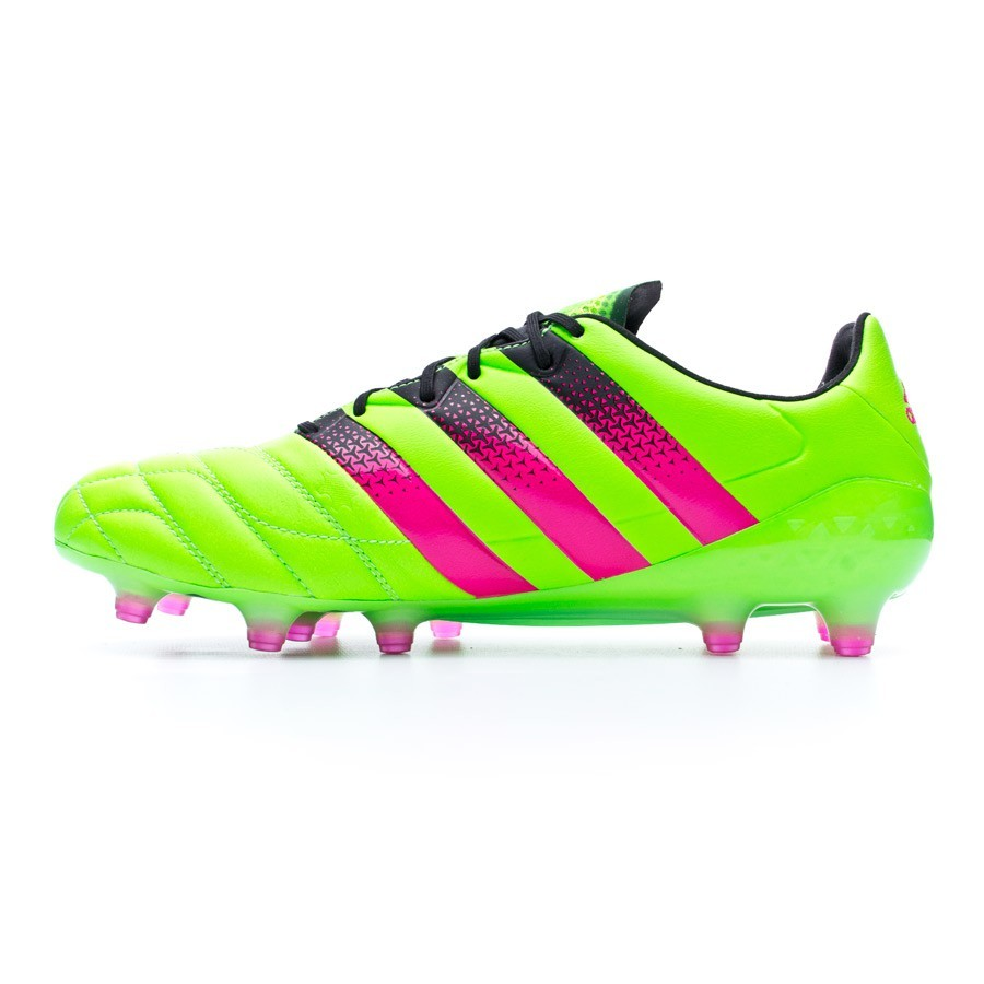 e9790ece6411 Football Boots adidas Ace 16.1 FG/AG Piel Solar green-Shock pink-Core black  - Football store Fútbol Emotion