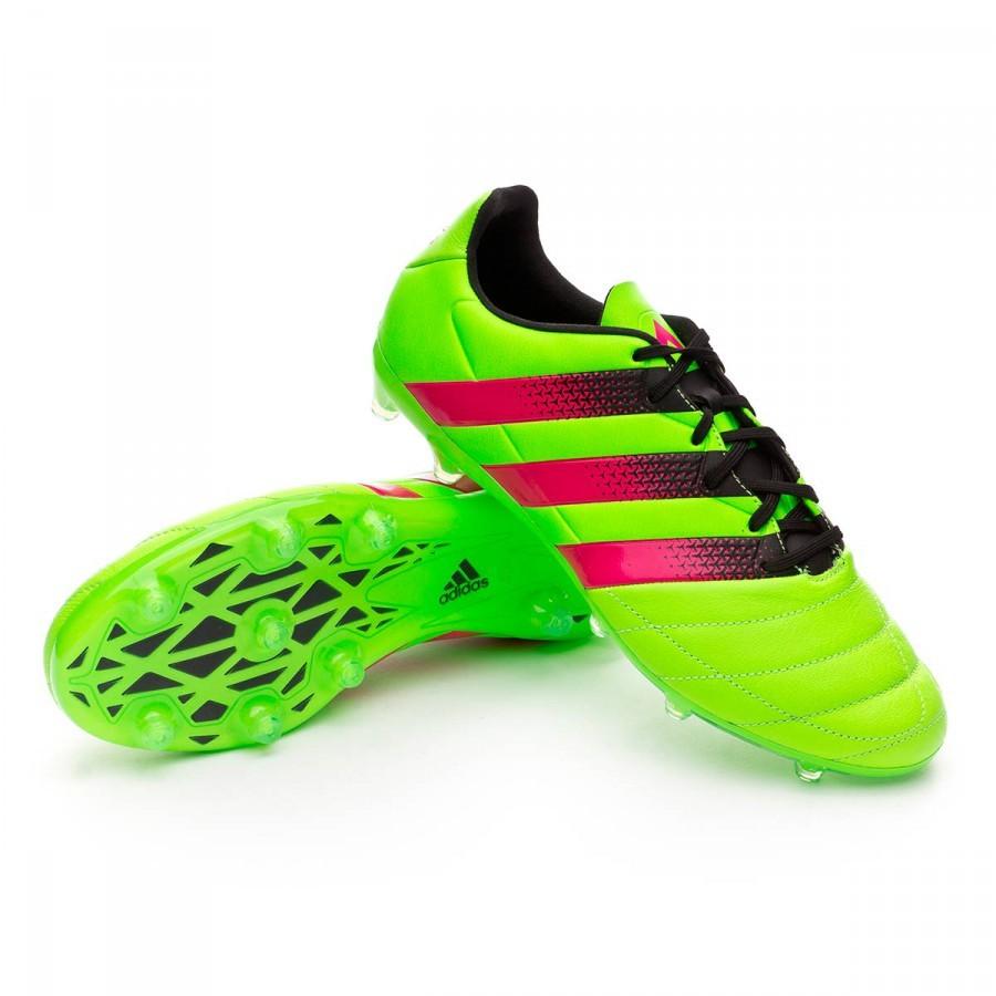 ... Bota Ace 16.2 FG AG Piel Solar green-Shock pink-Core black. CATEGORÍA.  Zapatos de fútbol · Zapatos adidas a77128259f808