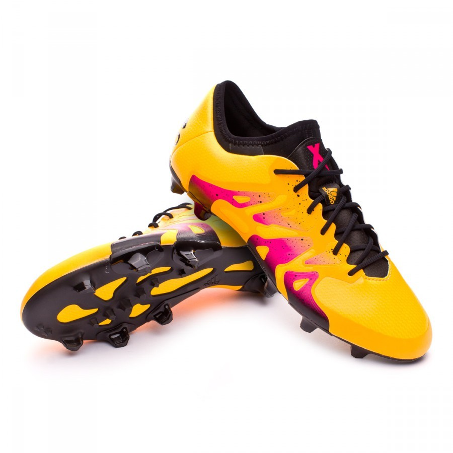 bota de f tbol adidas x 15 1 fg ag solar gold core black shock pink soloporteros es ahora. Black Bedroom Furniture Sets. Home Design Ideas