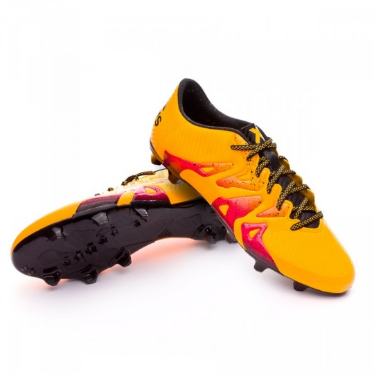 Chaussure  adidas X 15.3 FG/AG Solar gold-Core black-Shock pink
