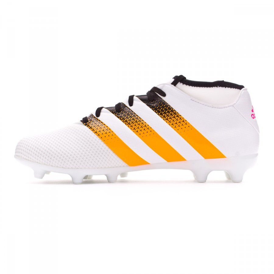 25db4766c4734 Scarpe adidas Ace 16.3 Primemesh FG AG Donna White-Solar gold-Shock pink -  Negozio di calcio Fútbol Emotion