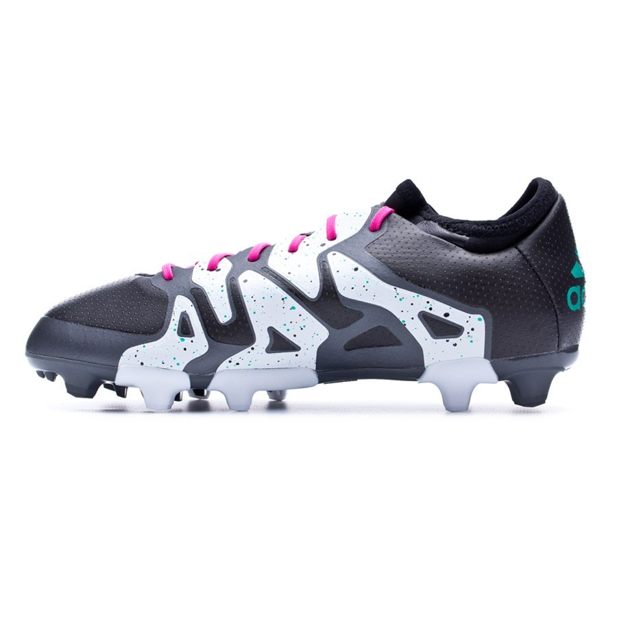 94e30a2b3f4 Boot adidas Jr X 15.1 FG AG Core black-Shock mint-White - Leaked soccer