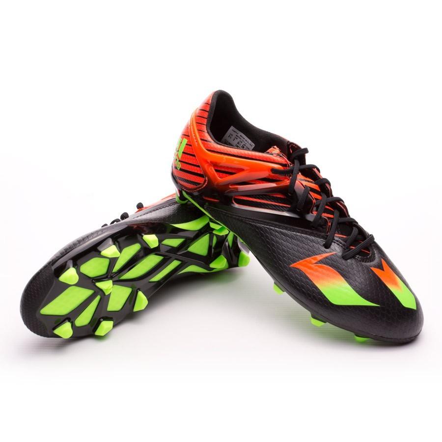 866da8c16071 adidas Kids Messi 15.1 FG/AG Football Boots. Core black-Solar green-Solar  ...