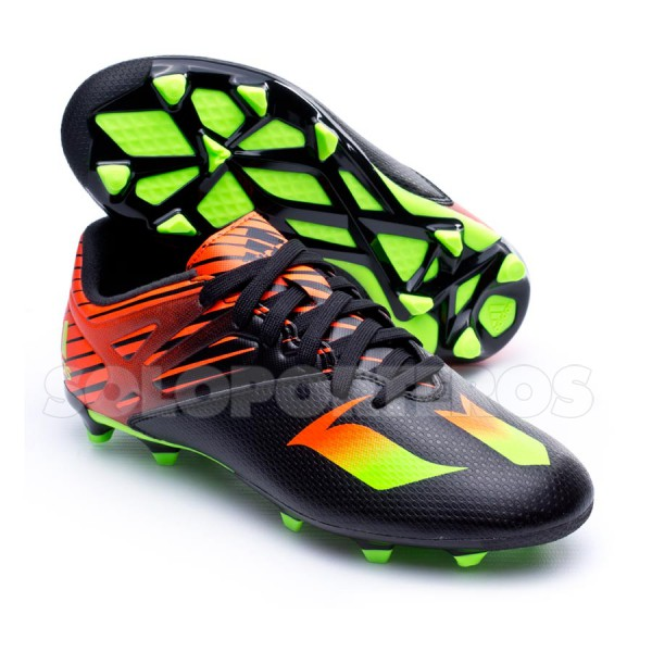 reputable site 5579d 6de42 Boot adidas Jr Messi 15.3 FG AG Core black-Solar green-Solar red - Soloporteros  es ahora Fútbol Emotion