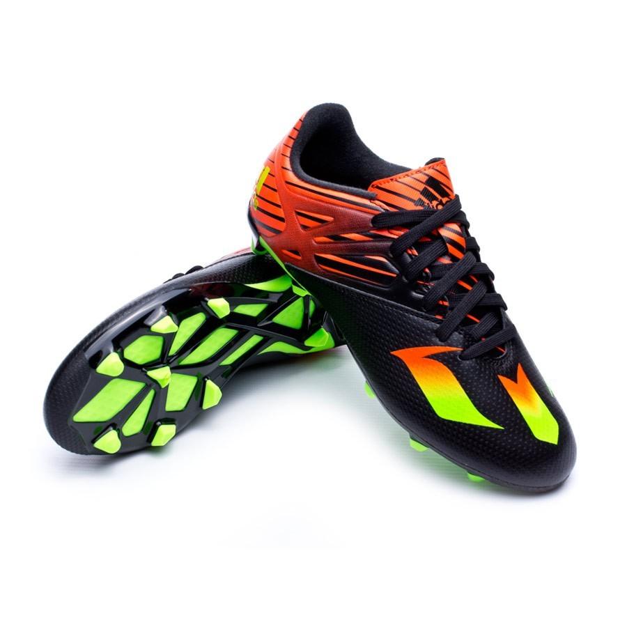89001ab9ec319 Zapatos de fútbol adidas Messi 15.3 FG AG Niño Core black-Solar green-Solar  red - Tienda de fútbol Fútbol Emotion